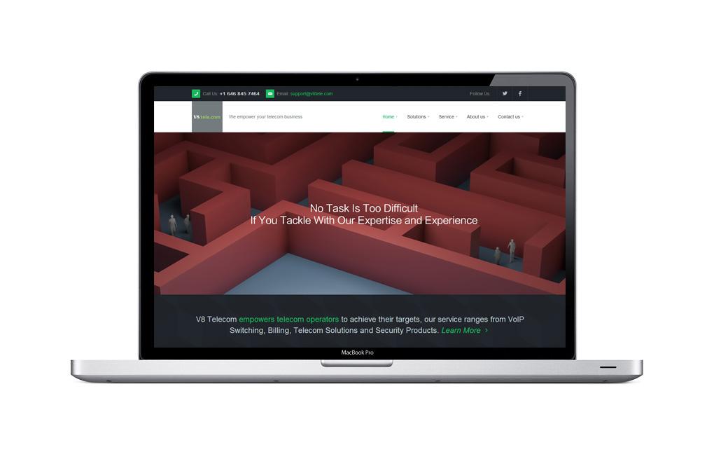 V8 Telecom品牌网站设计
