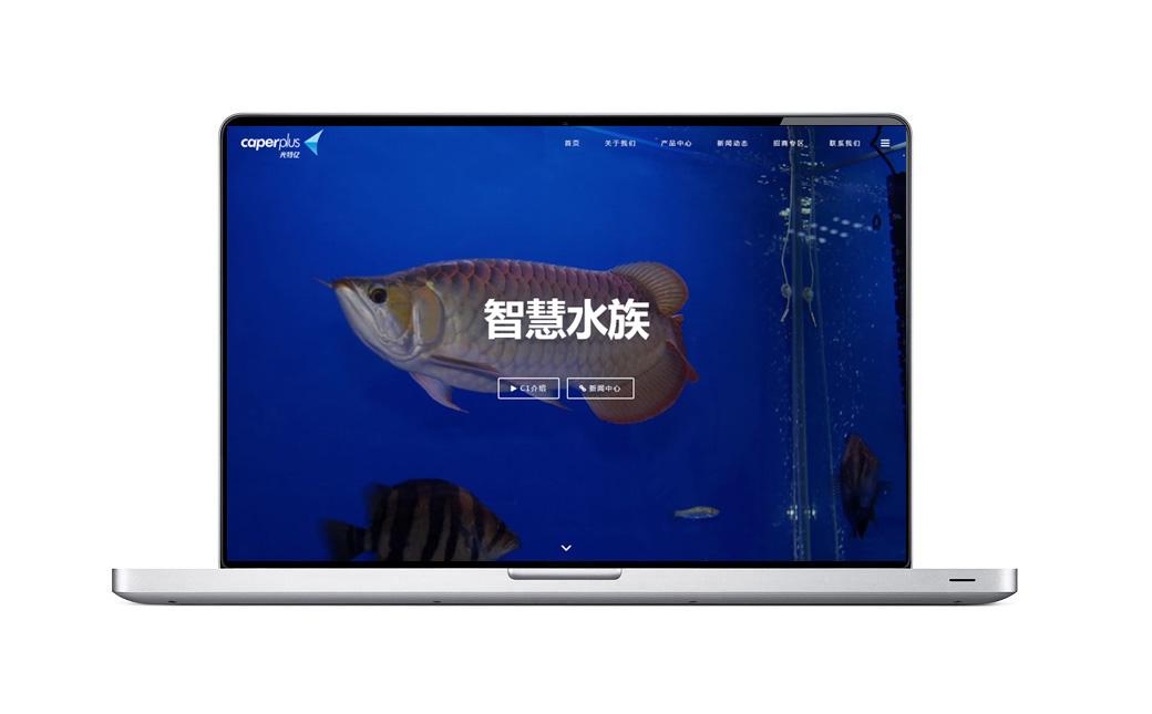 光特亿智慧水族品牌网站设计