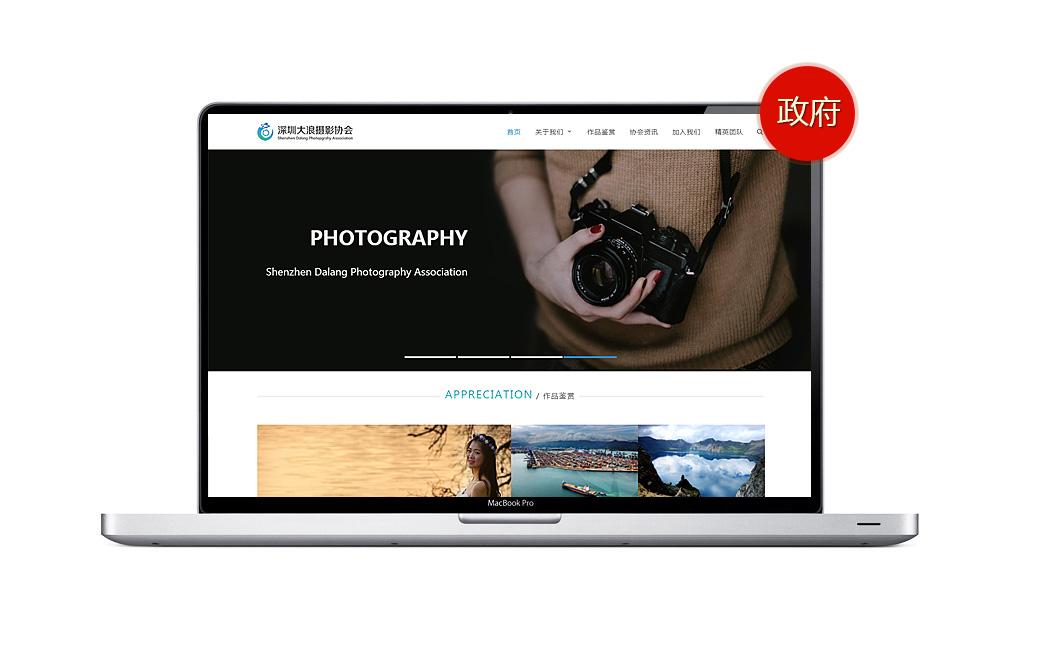 大浪摄影协会网站设计