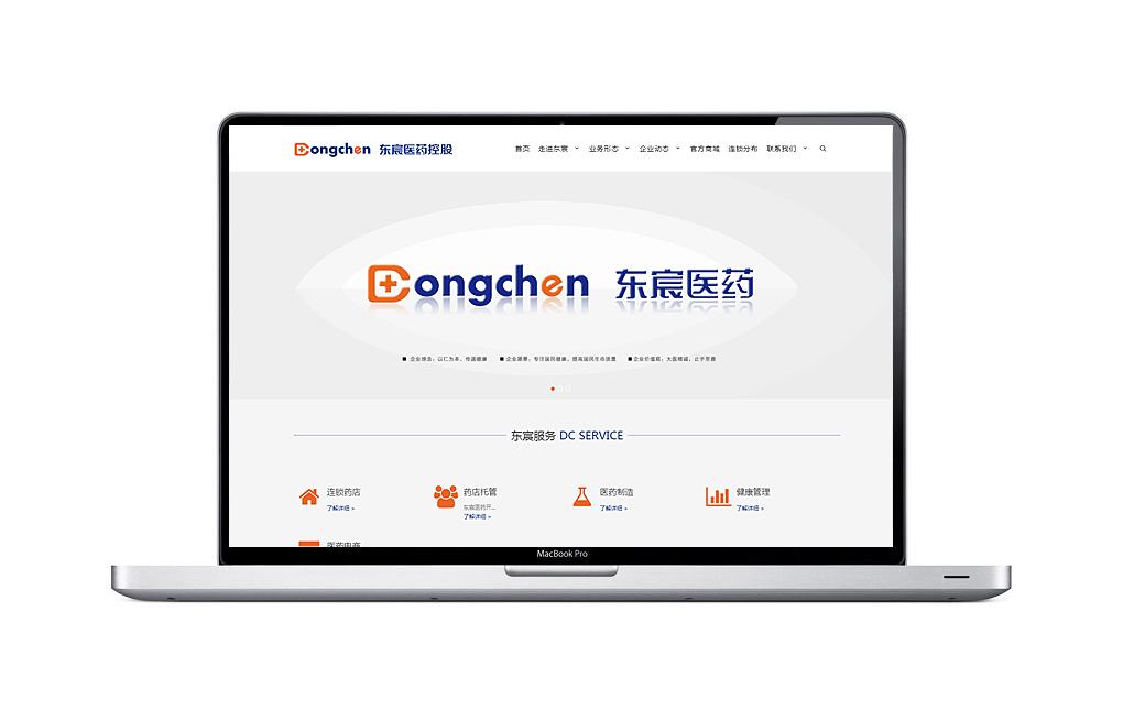 东宸医药控股网站品牌设计